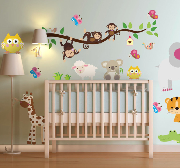 Adornos De Pared originales Innovador Sticker Enfant Animaux Jungle Tenstickers Of Adornos De Pared originales Gran Ideas originales Para BaÑos PequeÑos