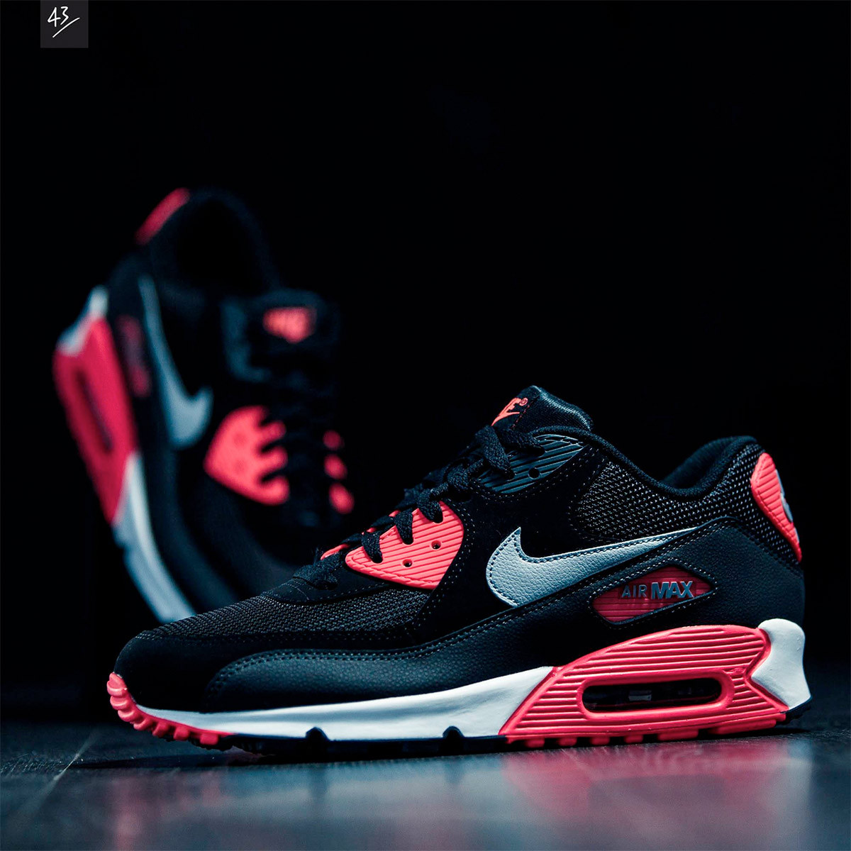 Air Max 90 Essential Magnífica Nike Air Max 90 Essential Black Infrared Of 36  Adorable Air Max 90 Essential