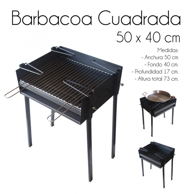 Barbacoa Gas Y Carbon Único Barbacoa LeÑa Y Carbon Desmontable Cuadrada Of 38  Gran Barbacoa Gas Y Carbon