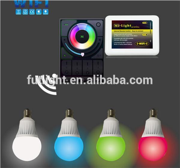 multi color e27 led light bulb with remote e14 like philips hue b 2 4g wireless rgbw led light bulb wifi