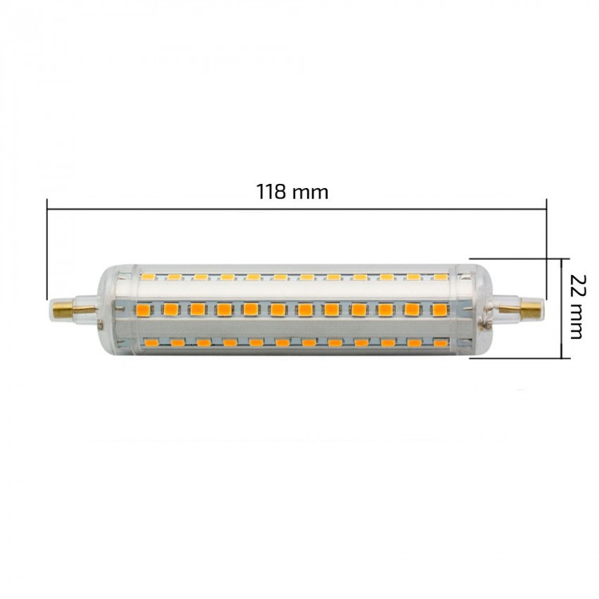 1108 slim 118mm r7s 10w led bulb dimmable