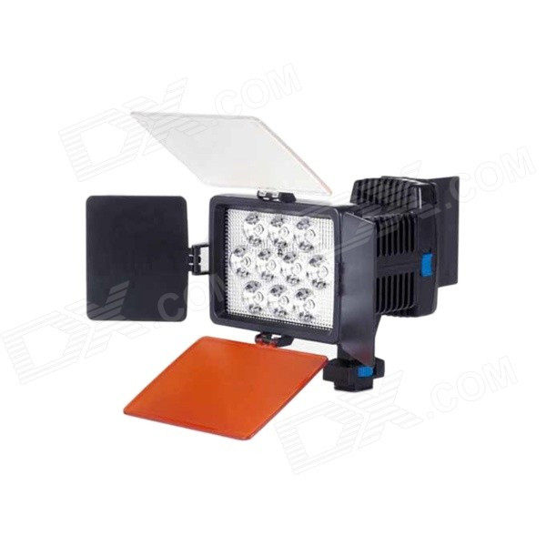 rb30 30w 2300lm 10 led professional camera video fill light black