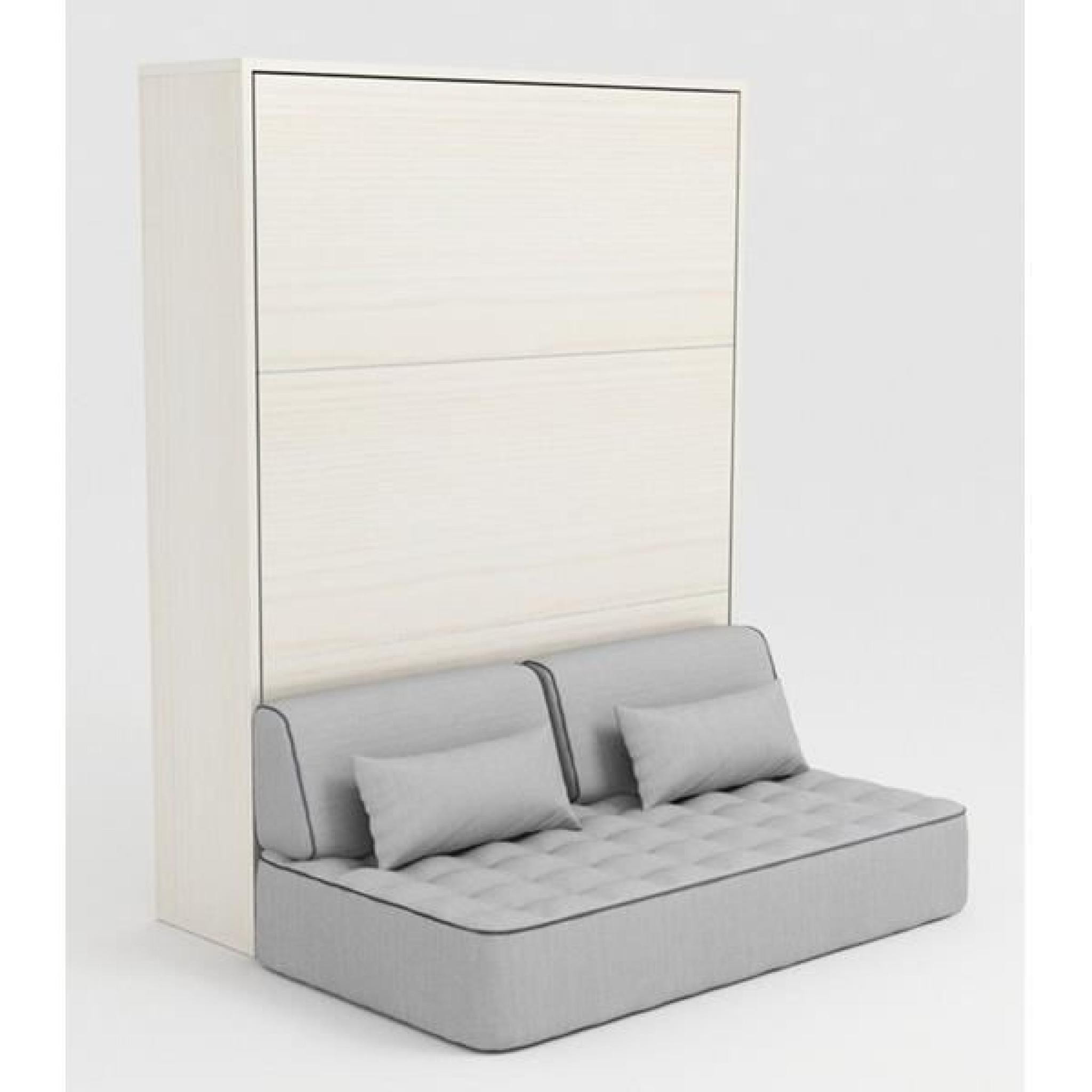 Canape 150 X 200 Arriba Armoire Lit Escamotable Stone 160×200 Blanc Canapé Achat Of 45  Perfecto Canape 150 X 200