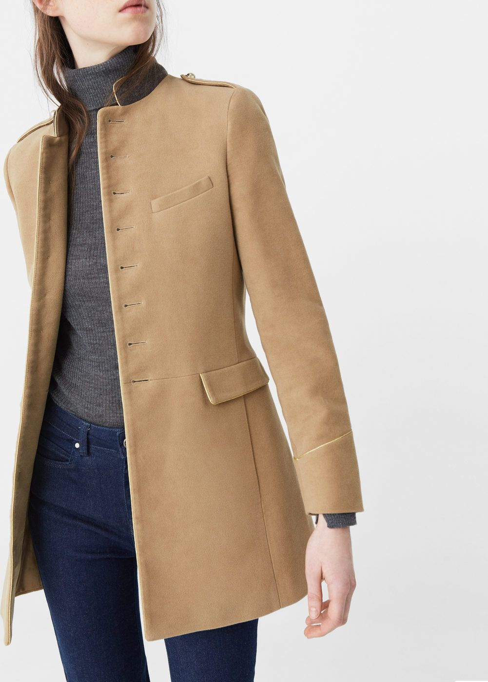 Cazadora Piel Marron Mujer Arriba Military Style Coat Women Fall Winter 16 Must Have Of 38  Arriba Cazadora Piel Marron Mujer