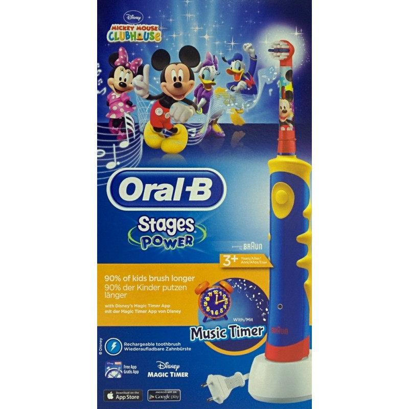 Cepillo Dental Eléctrico Braun Oral B Mickey Mouse