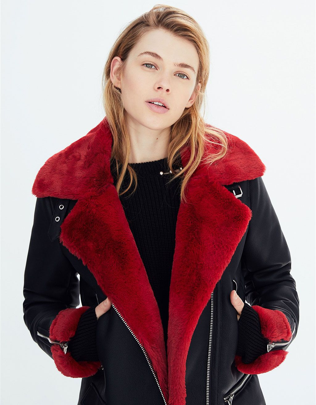 Chaquetas De Pelo Mujer Único Faux Shearling Biker Jacket Discover This and Many More Items In Of Chaquetas De Pelo Mujer Lujo Pin De Valentina Roc­o González Jerez En Look Mujer