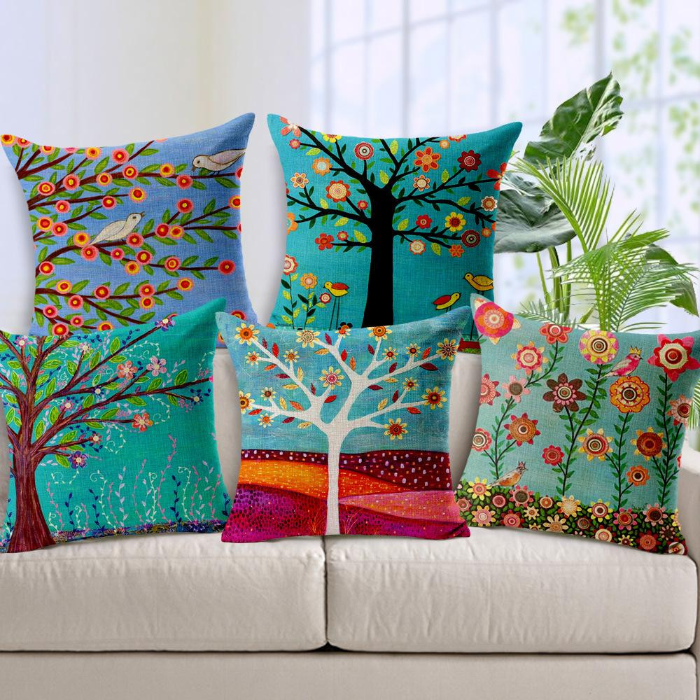 Comprar Cojines Grandes Para sofas Fresco New Ikea 7 Styles Pastoral Flowers Trees Bird Cushion Of 44  Gran Comprar Cojines Grandes Para sofas