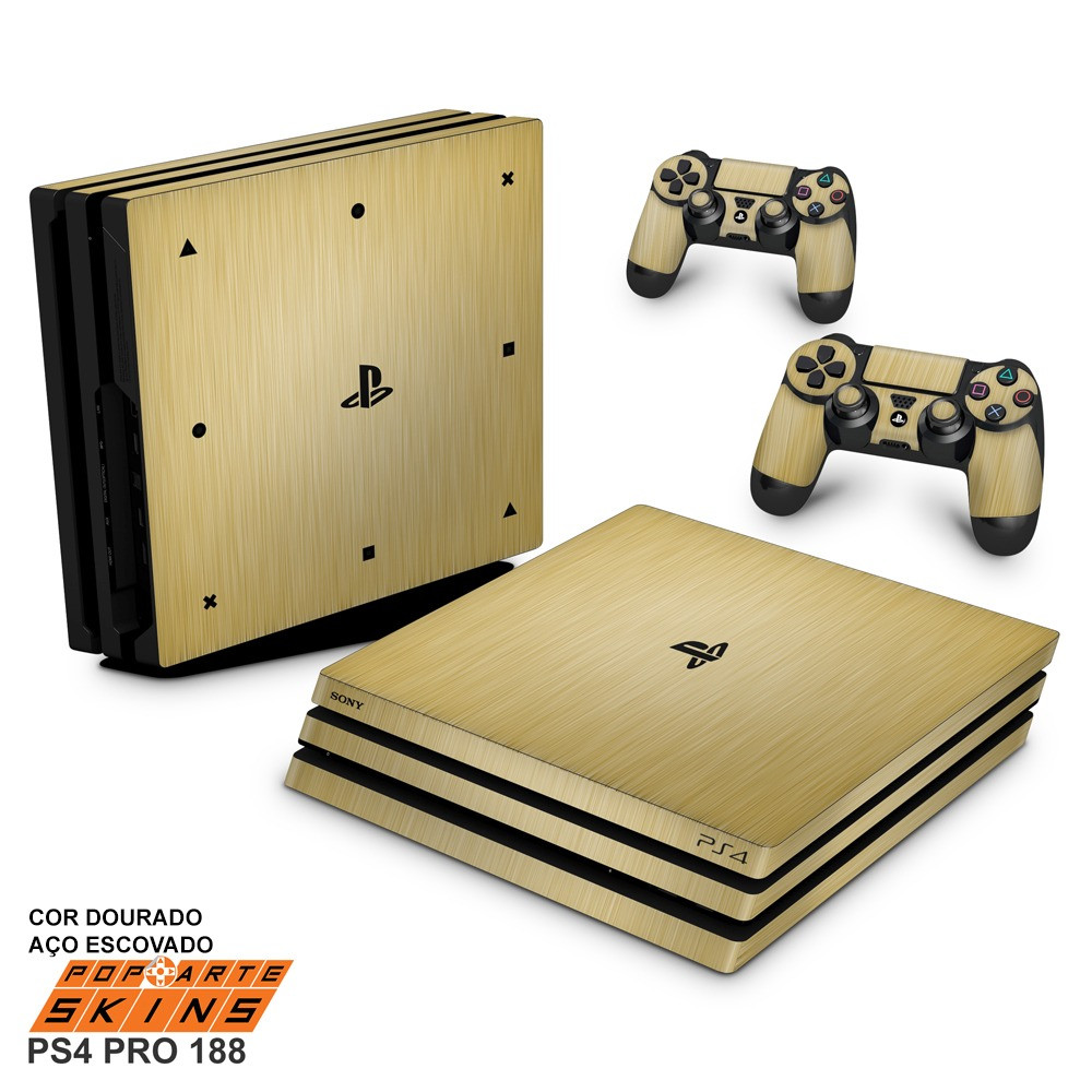 Comprar Playstation 4 Pro Brillante Skin Ps4 Pro Adesivo Playstation 4 Aço Escovado Dourado Of Comprar Playstation 4 Pro Único Prar sony Ps4 Playstation 4 Pro 1tb Fifa 18 Consola