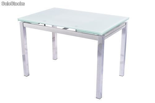 conjunto mesa extensible y 4 sillas de edor color blanco