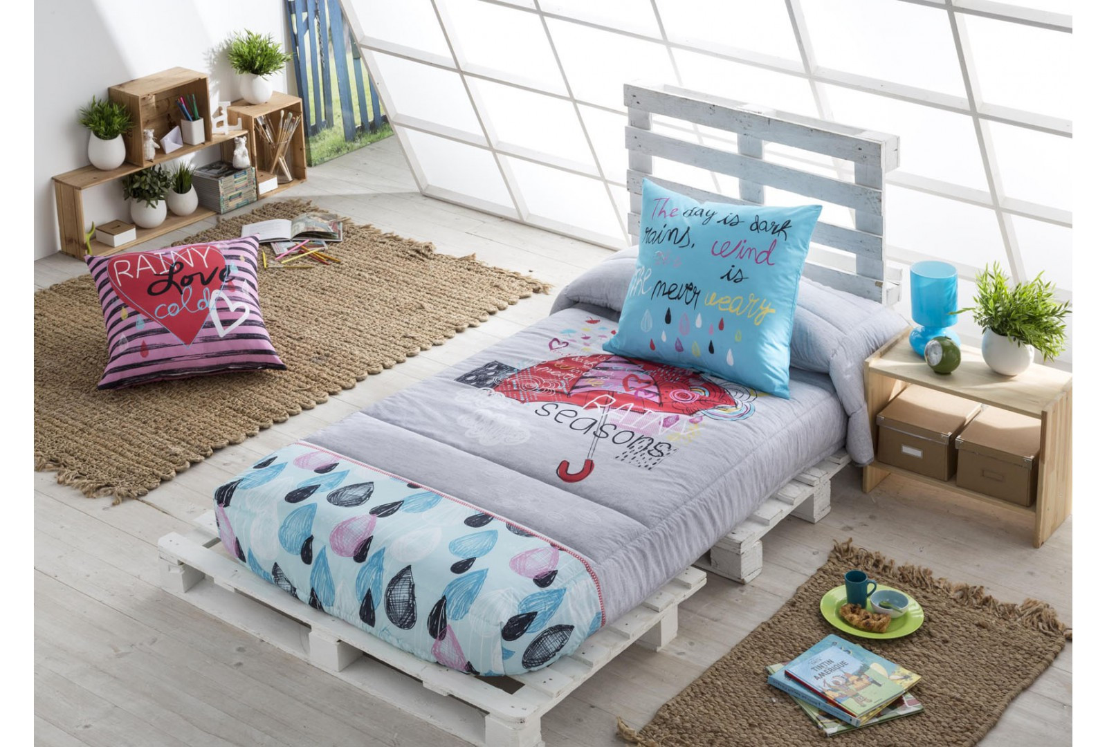 Edredon Ajustable Cama 90 Gran EdredÓn Ajustable Raining Descatalogado Decorajoven Of Edredon Ajustable Cama 90 Contemporáneo Edredón Ajustable Patch Reig Marti