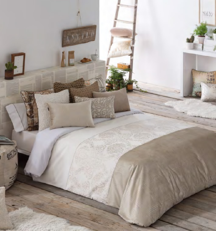 Edredones De Matrimonio Modernos Contemporáneo Funda Nórdica Jacquard Adrian Of Edredones De Matrimonio Modernos Nuevo Elegant Bedroom with Porcelain 4 Piece Queen Ivory Bedding