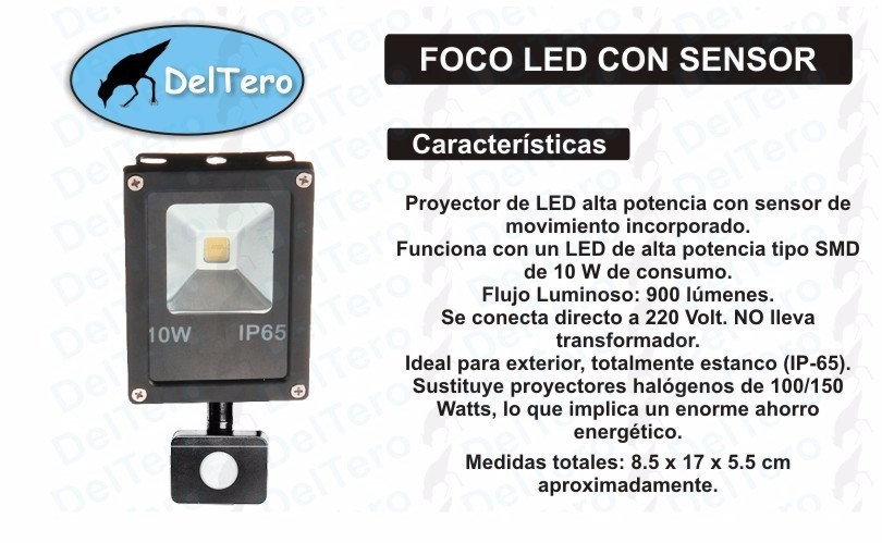 Foco Led Con Sensor De Movimiento Arriba Foco Led Smd 10 Watts Con Sensor De Movimiento 12 Meses Of 42  Magnífica Foco Led Con Sensor De Movimiento