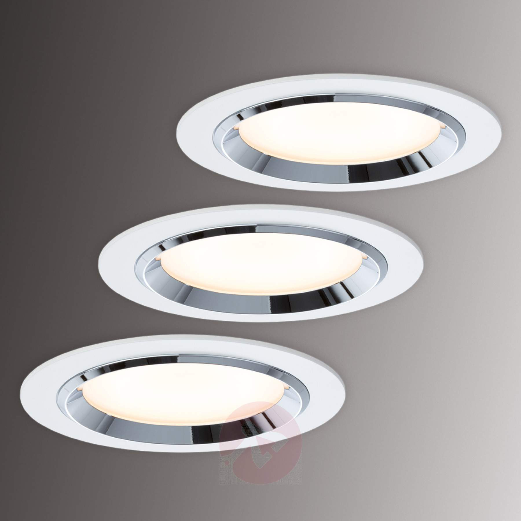 pra Set de 3 focos LED empotrables Premium Line Dot