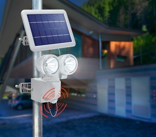 Doble foco de led con placa solar DUO POWER II