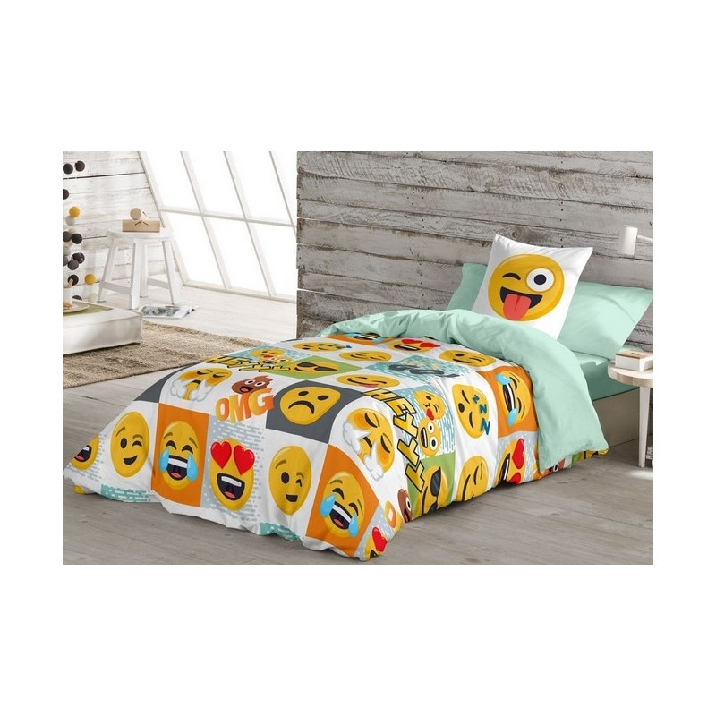 Funda nordica Cama 90 Arriba Funda nordica Emoticons Whatsapp Hey Para Cama 90 O 105 Cm Of 38  Impresionante Funda nordica Cama 90