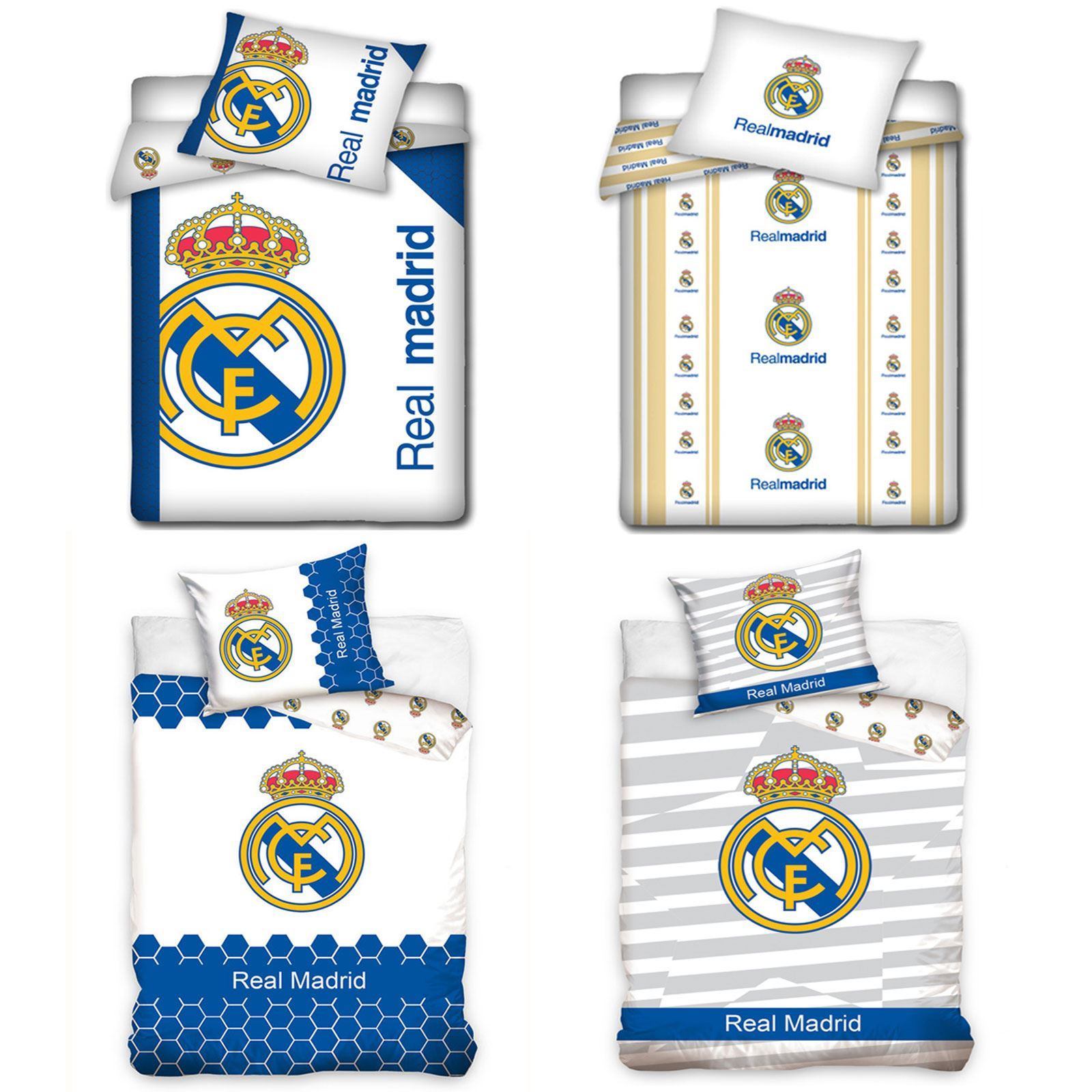 Funda nordica Real Madrid Mejor Oficial Real Madrid Individual & EdredÓn Doble Fundas Ropa Of 36  Magnífico Funda nordica Real Madrid