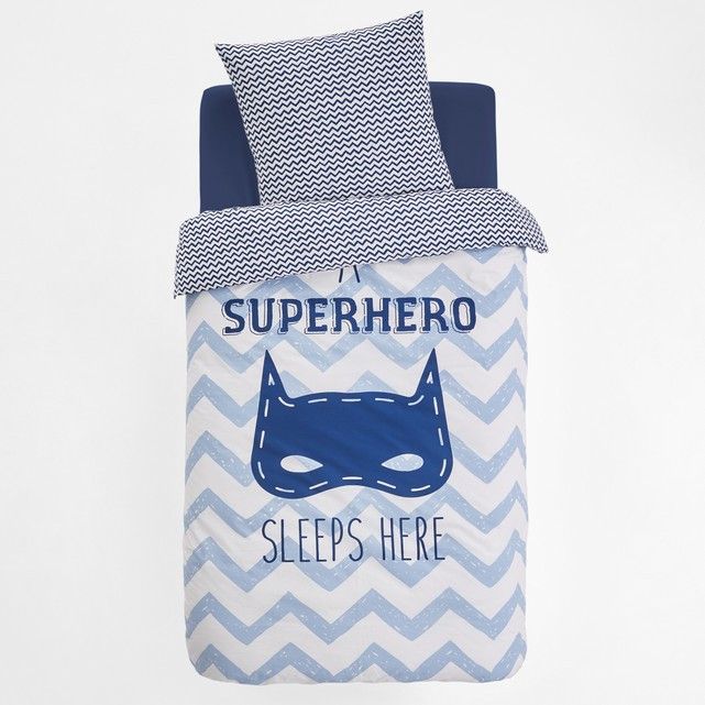 Funda nordica Super Heroes Único Funda Nórdica Estampada Super Masque Estampado Azul Claro Of 47  atractivo Funda nordica Super Heroes