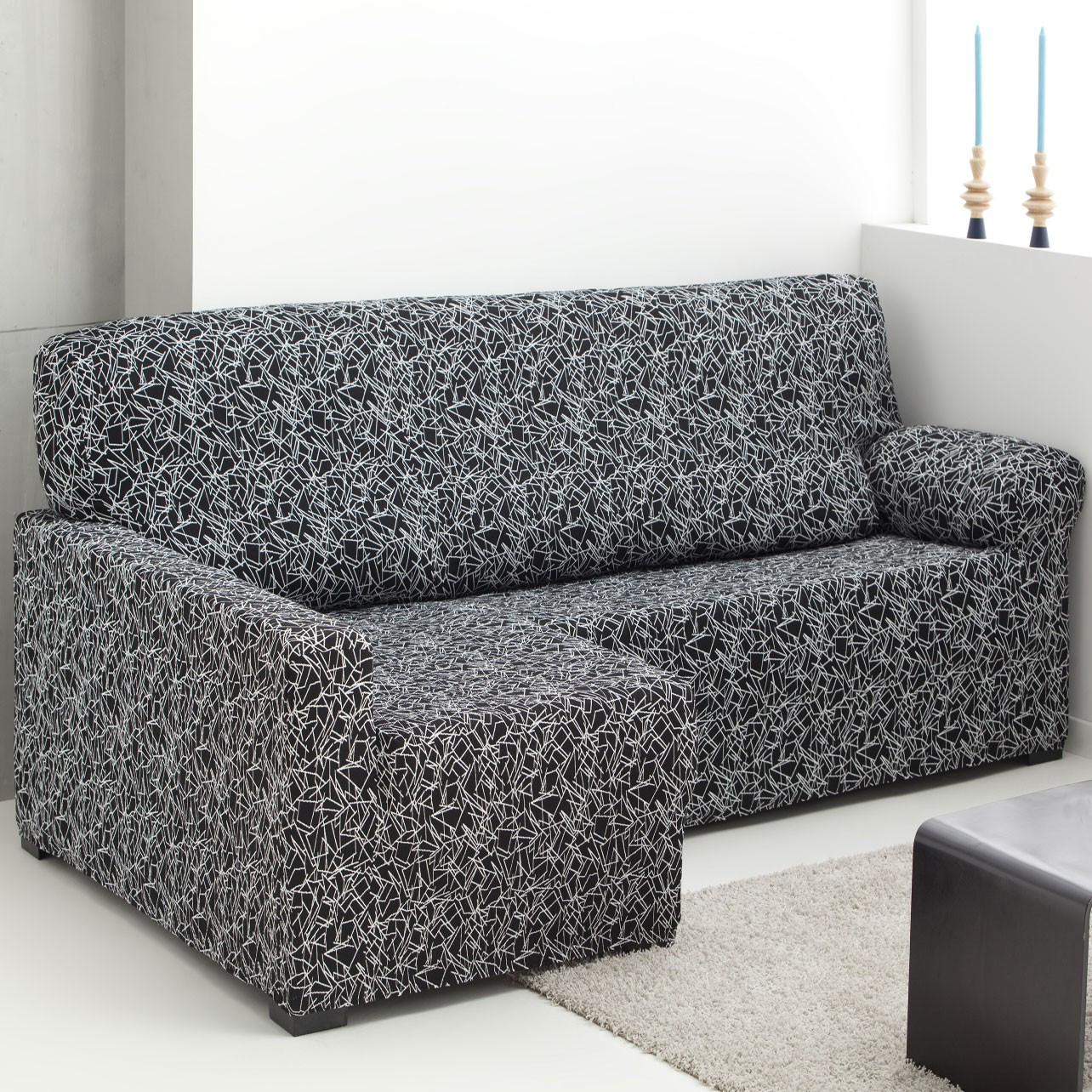 Funda sofa Chaise Longue Encantador Funda sofá Chaise Longue Brazo Largo Elástica Sirocco Of 37  Innovador Funda sofa Chaise Longue