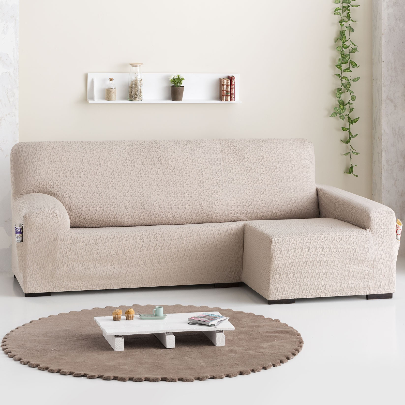 funda sofa extra chaise longue bielastica tendre