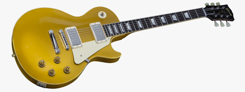 Gibson Les Paul Gold top Magnífica True Historic 1957 Les Paul Goldtop Reissue Of 45  Innovador Gibson Les Paul Gold top