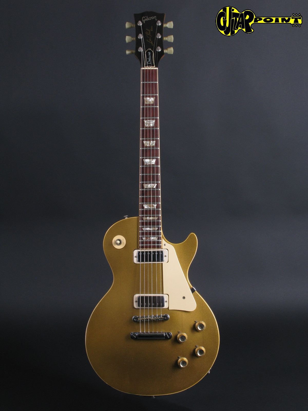 Gibson Les Paul Gold top Magnífico Gibson Les Paul Deluxe Goldtop 1974 Gold top Guitar for Of 45  Innovador Gibson Les Paul Gold top