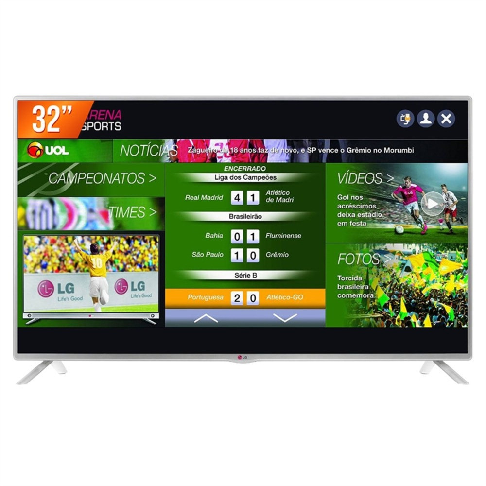 mlb smart tv led lg 32 hd hdmi usb conversor digital 32lb570b jm