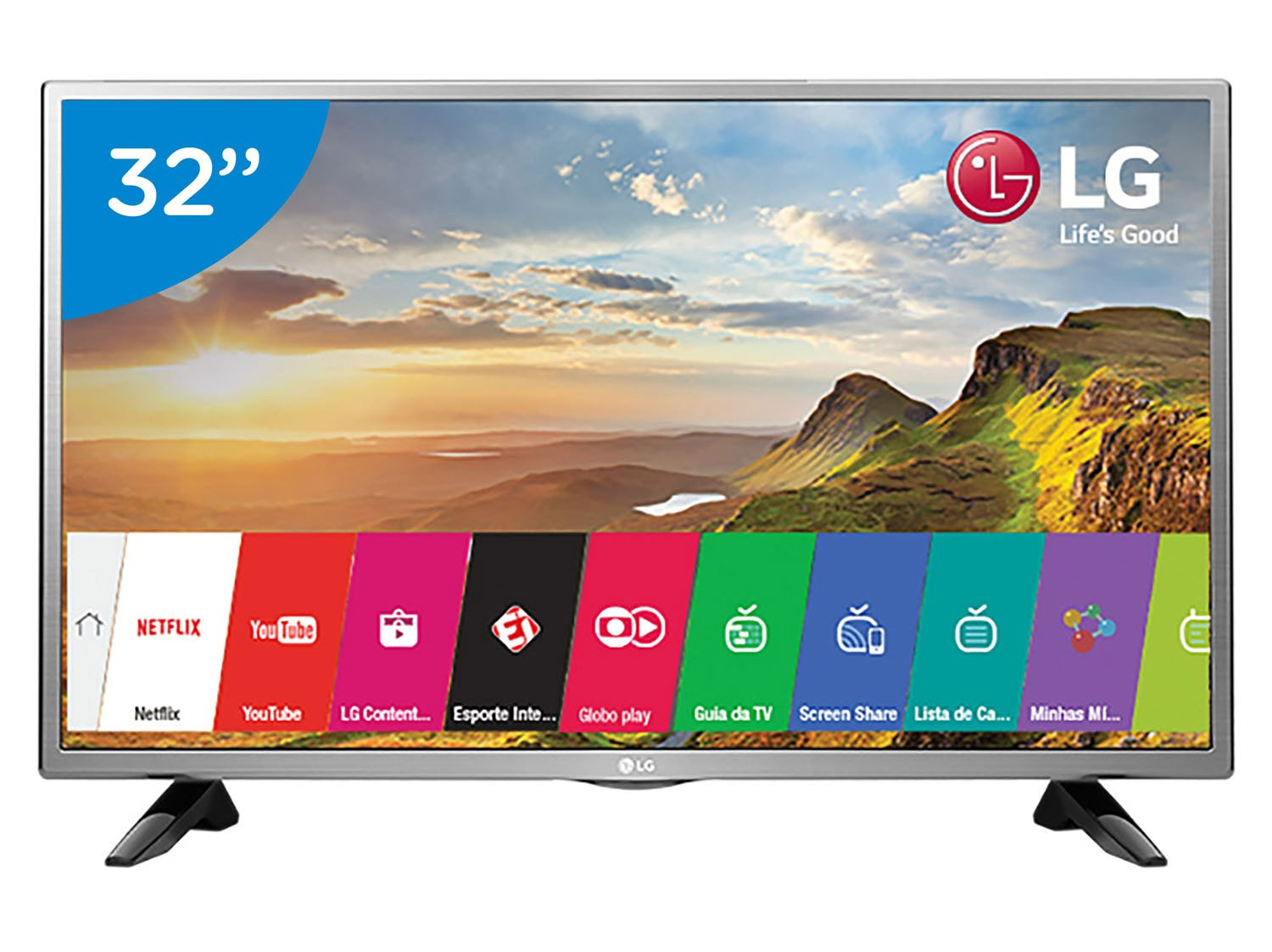 "Lg 32 Smart Tv Impresionante Smart Tv Led 32"" Lg 32lh570b Conversor Digital Wi Fi 2 Of 48  Arriba Lg 32 Smart Tv"