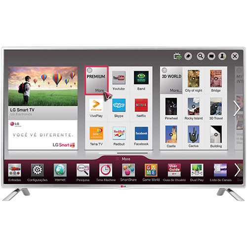 "Lg 32 Smart Tv Único Smart Tv Lg Led 32"" 32lb570b Hd 3 Hdmi 3 Usb 60hz Of 48  Arriba Lg 32 Smart Tv"