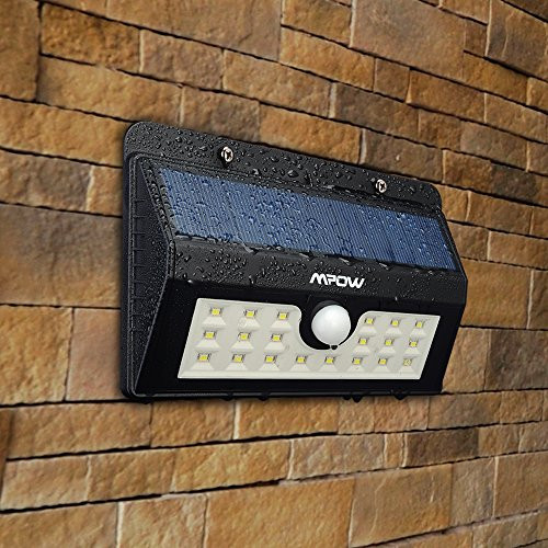 Luces Led solares Exterior Contemporáneo Foco solar De 20 Diodos Led Mpow Con Sensor De Movimiento Of 49  Increíble Luces Led solares Exterior