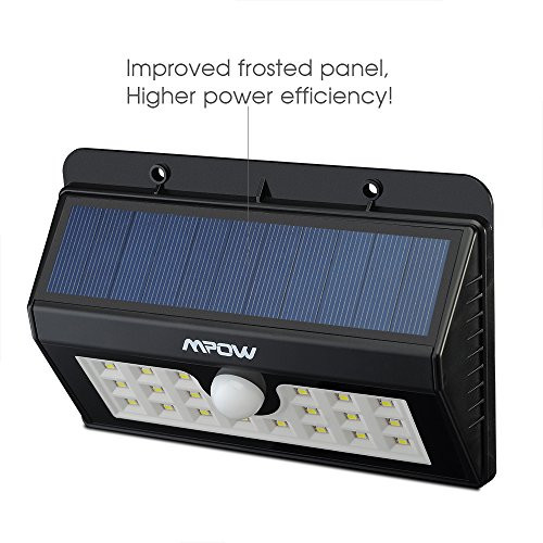Luces Led solares Exterior Gran Foco solar De 20 Diodos Led Mpow Con Sensor De Movimiento Of 49  Increíble Luces Led solares Exterior