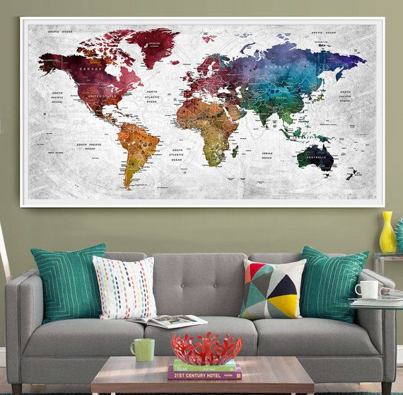 Mapa Del Mundo Decoracion Maravilloso 25 Best Ideas About World Travel Decor On Pinterest Of 48  atractivo Mapa Del Mundo Decoracion