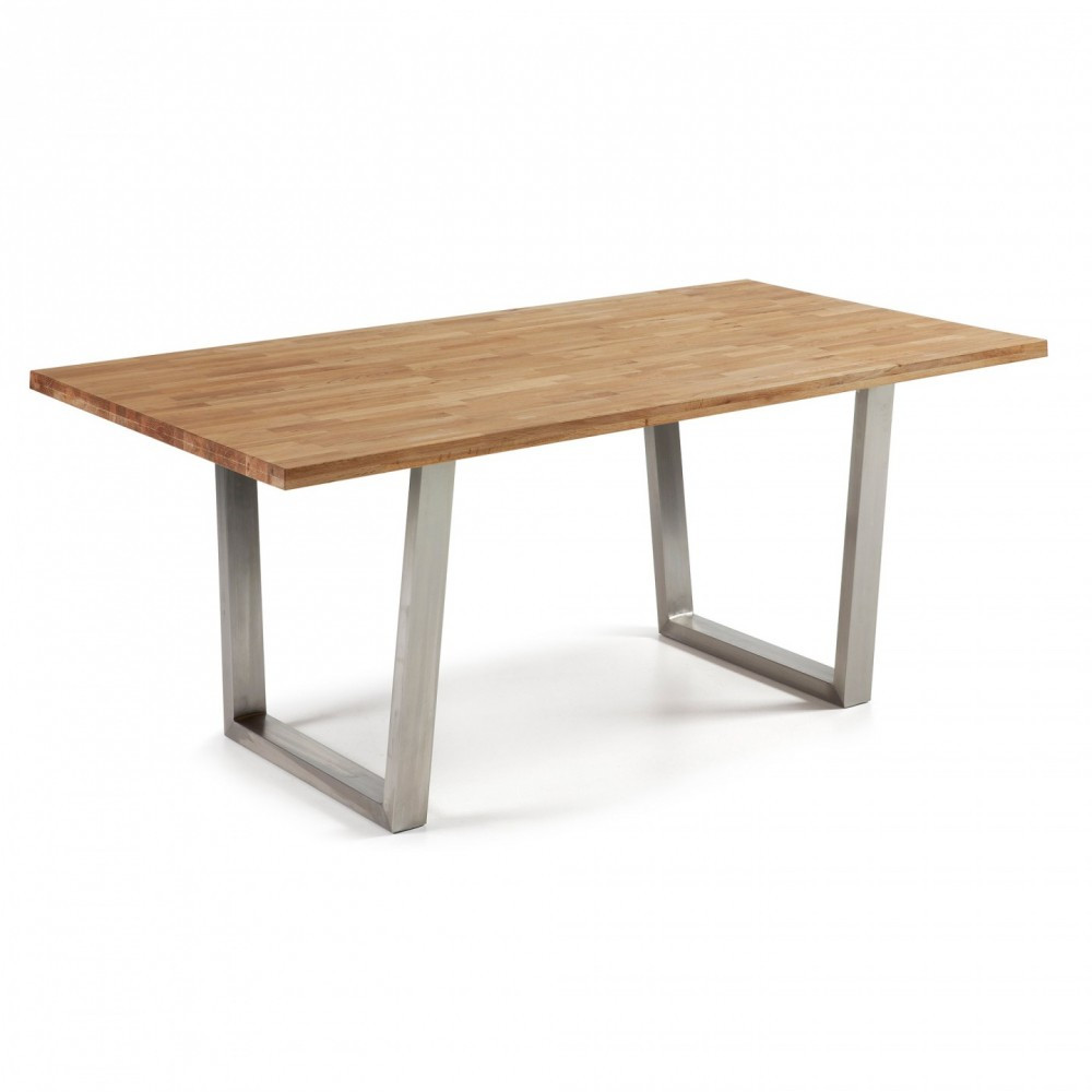 mesa de edor carter roble 200x100