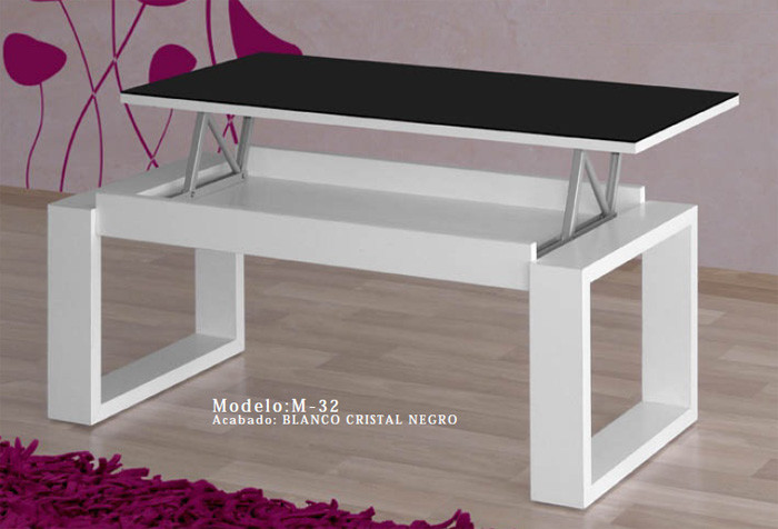 Mesa De Salon Elevable Contemporáneo Mesa De Centro Elevable Cristal Of 45  Encantador Mesa De Salon Elevable