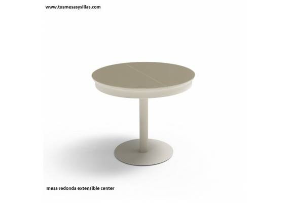 Mesa Redonda Extensible 90 Cms Fresco Mesa Redonda Extensible Center Con Pie Central 90 Cm Of 40  Increíble Mesa Redonda Extensible 90 Cms