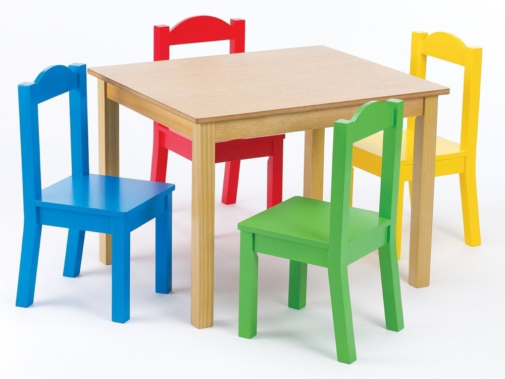 Mesa Y Sillas Niños Brillante Mesa De Madera 4 Sillas tot Tutors P Niños Natural Of 32  Contemporáneo Mesa Y Sillas Niños