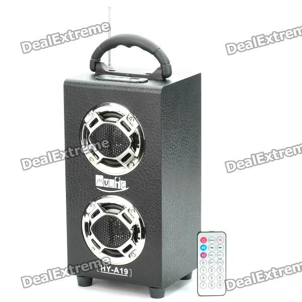 rechargeable portable wooden usb mp3 music player speaker with fm radio black 1 x cr2025