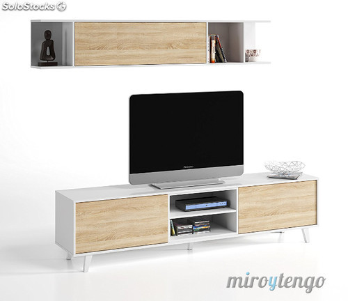 Mueble Salon Blanco Y Roble Arriba Mueble Tv De Salon Modulo Bajo Y Estante nordico Blanco Y Of 47  atractivo Mueble Salon Blanco Y Roble