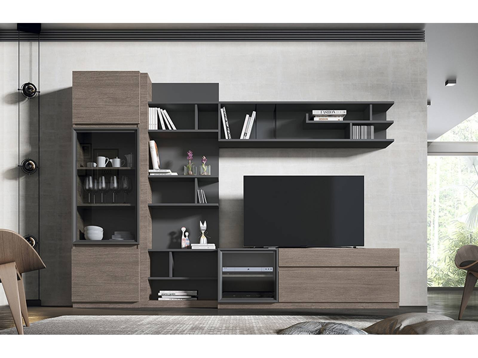 Mueble Salon Blanco Y Roble Brillante Muebles Roble Gris – Vangion Of 47  atractivo Mueble Salon Blanco Y Roble