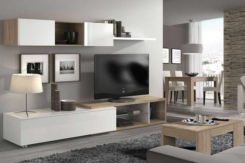 Mueble Salon Blanco Y Roble Lujo Mueble Salon Roble Wengue – Vangion Of 47  atractivo Mueble Salon Blanco Y Roble