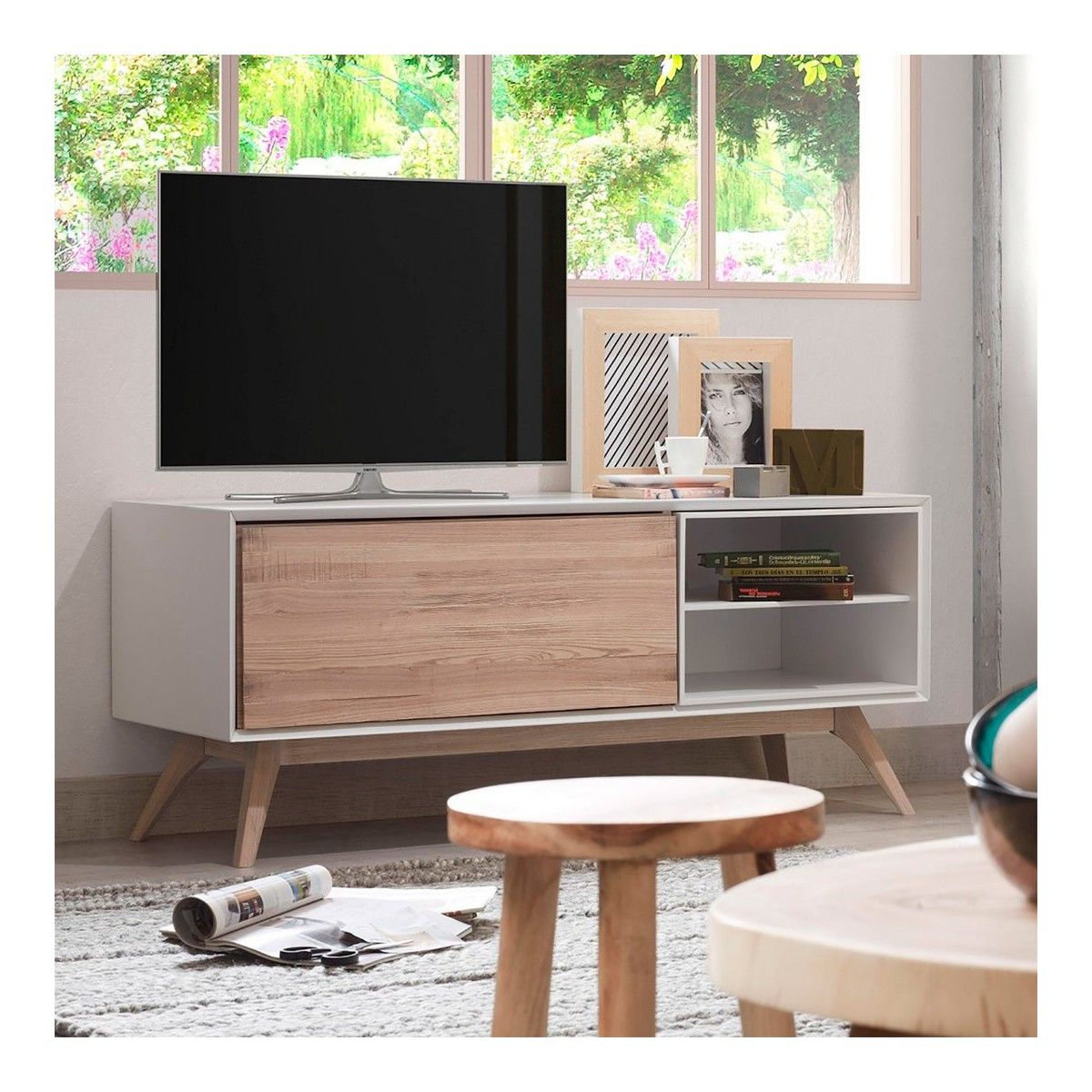 Mueble Tv Estilo nordico Arriba Mueble Tv nordico Quattro Con 1 Puerta Demarques Of Mueble Tv Estilo nordico Adorable Mueble Tv Estilo Nórdico En Nogal Americano