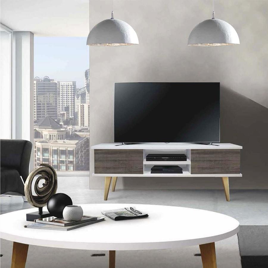 Mueble Tv Estilo nordico Magnífica Mueble De Tv Estilo Nórdico Con Cajones Blanco Cambria Of Mueble Tv Estilo nordico Adorable Mueble Tv Estilo Nórdico En Nogal Americano