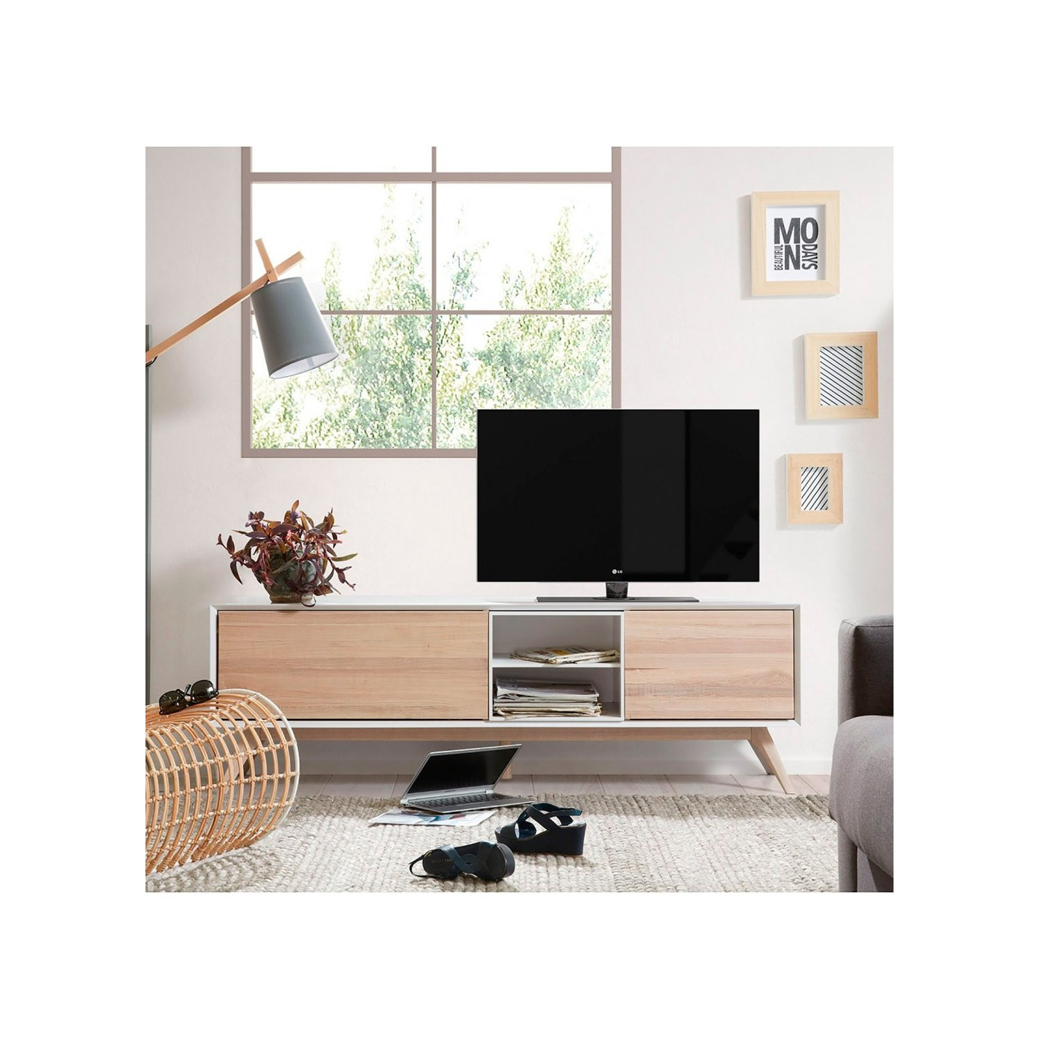 Mueble Tv Estilo nordico Perfecto Mueble Tv nordico Quattro Con 2 Puertas Demarques Of Mueble Tv Estilo nordico Adorable Mueble Tv Estilo Nórdico En Nogal Americano