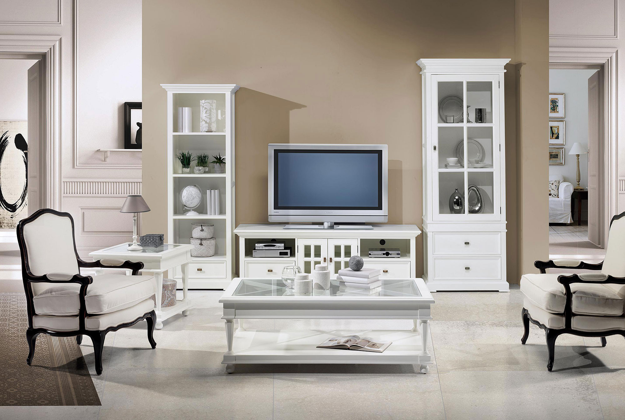 muebles salon blanco