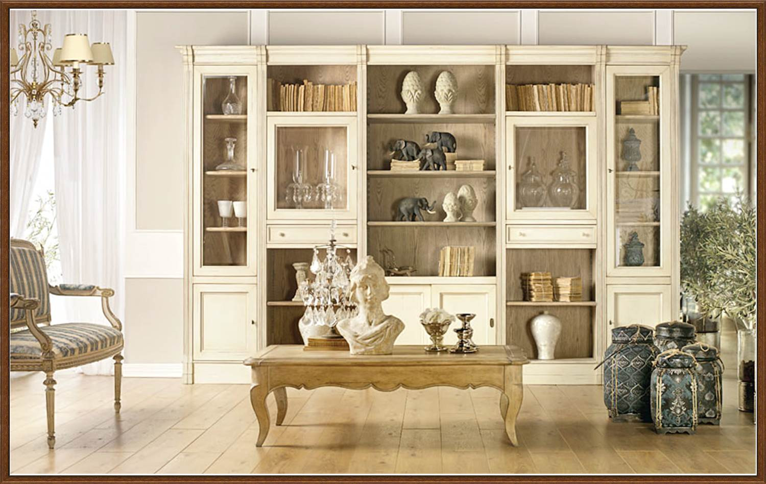 muebles blanco de salon