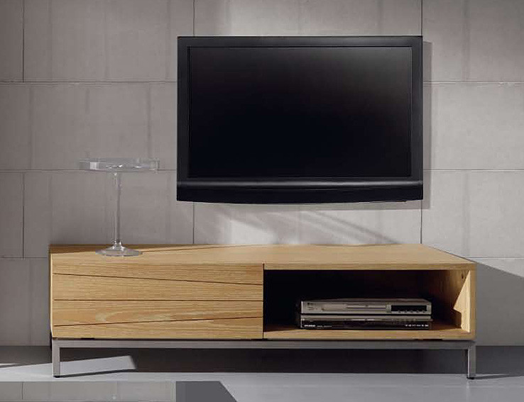 Mueble TV de madera natural Weymouth