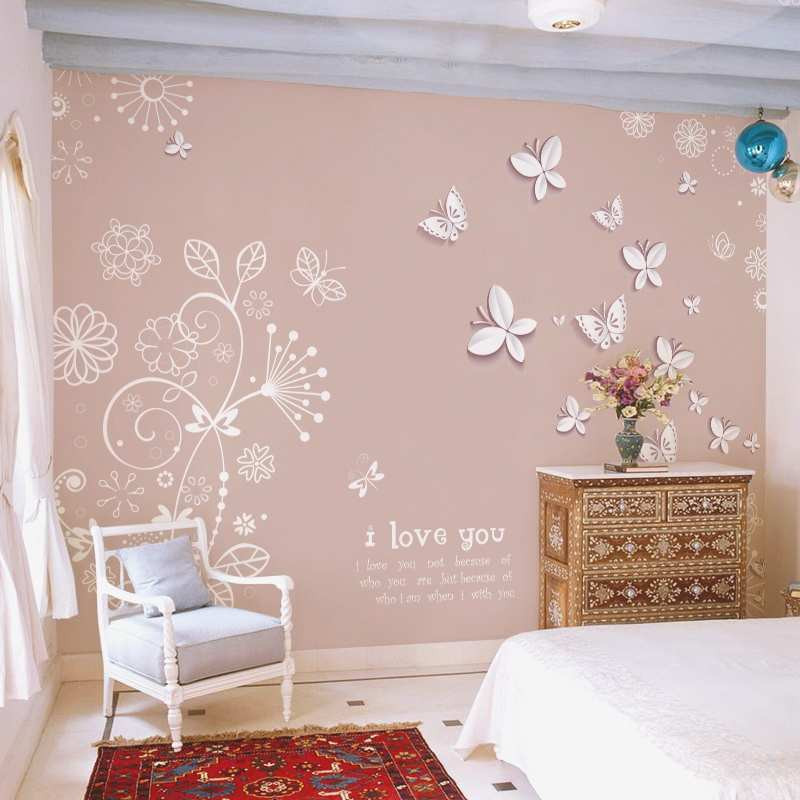 Murales De Pared Ikea Innovador Impresionante butterfly Flower Fly Wallpaper Roll Mural Of Murales De Pared Ikea Nuevo Mural Adhesivo Paisaje Bosque Campo Decorar Paredes
