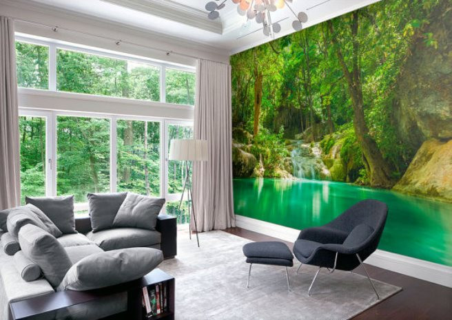 Murales De Pared Ikea Perfecto 15 Impressive Wall Mural Ideas that Bring the Outdoors In Of Murales De Pared Ikea Nuevo Vinilo Decorativo Arból Con Marcos De Fotos En Vinilosfo