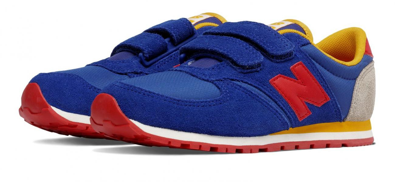 new balance azul 420 hook and loop nino bluered