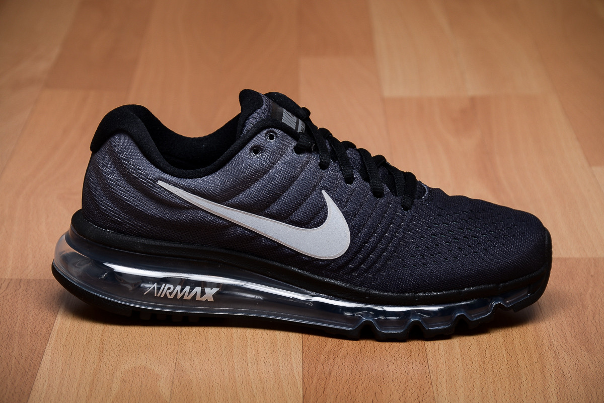 nike air max 2017 gs running black anthracite kids shoes