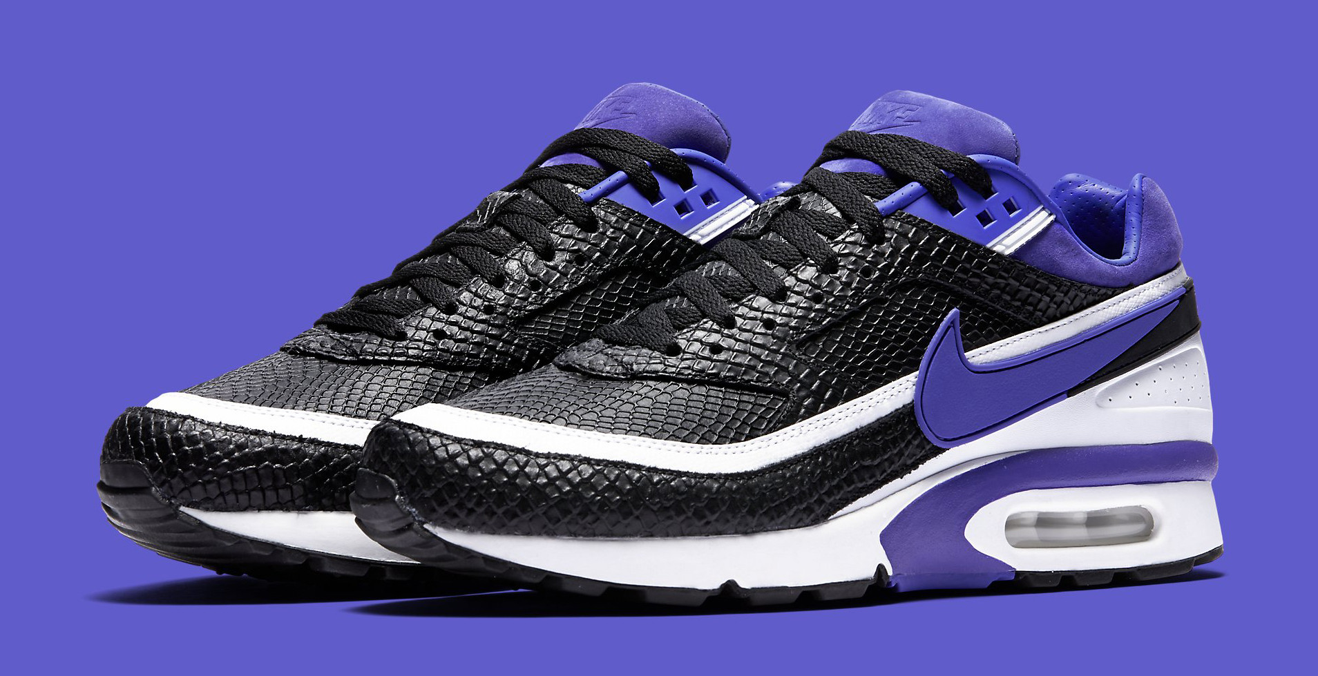 snake nike air classic bw persian violet